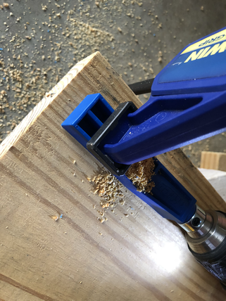 How to use a Kreg Mini Jig while DIYing a rolling storage bench / shoe rack