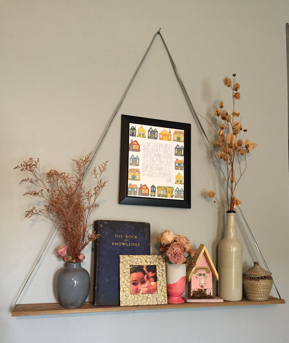 An easy DIY hanging shelf tutorial.