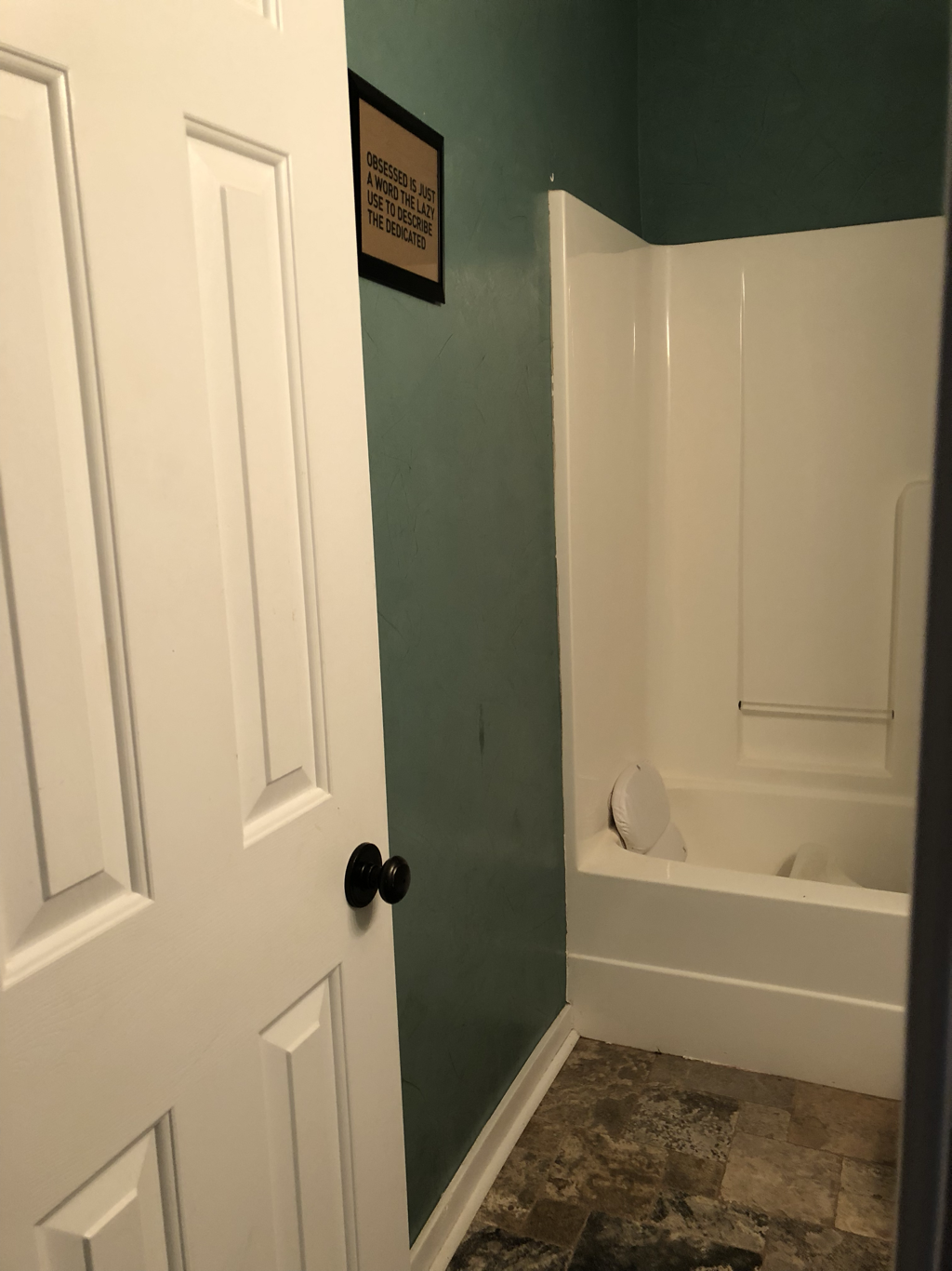 BEFORE picture of a simple bathroom renovation.