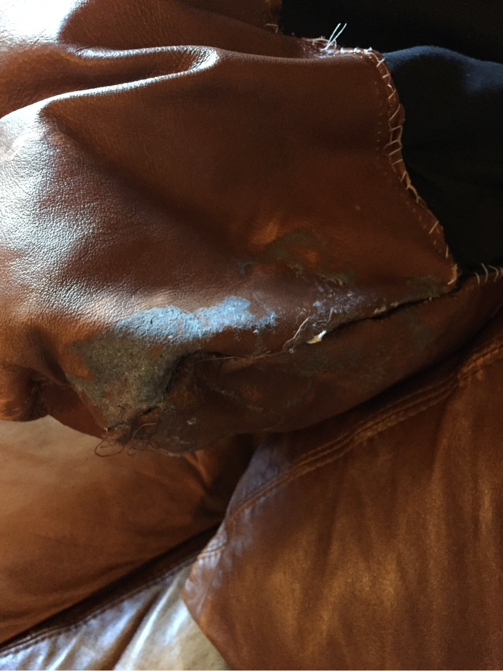 Leather Cushion fix up